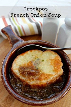 recipe for french onion soup in the crock pot