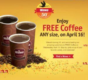 Free Coffee at Wawa on April 16, 2014!