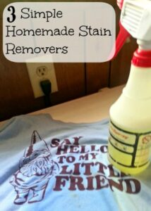 3 Homemade Stain Removers You Can Make