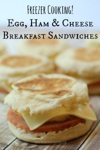Egg Sandwich with Ham and Cheese - Freezer Cooking