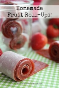 Looking for another snack for the family  that is just pure fruit and nothing else?  Try these homemade fruit roll-ups!