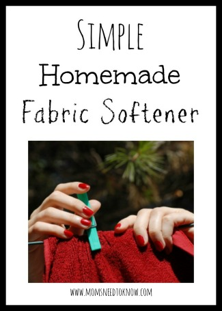Simple Homemade Fabric Softener Recipe