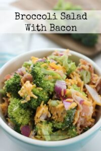 Need another dish to put on the table at your cookout?  Try this delicious broccoli salad!