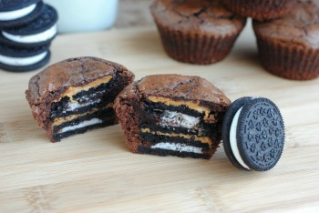 Oreo and Peanut Butter Stuffed Brownies Recipe