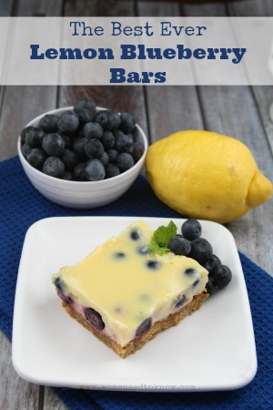 The Best Lemon Blueberry Bars Recipe Ever! | Moms Need To Know ™