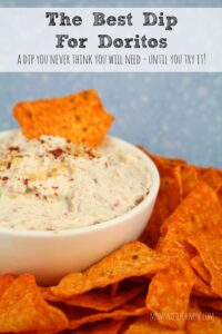 If you want another dip to set out, everyone just loves this dip for Doritos!