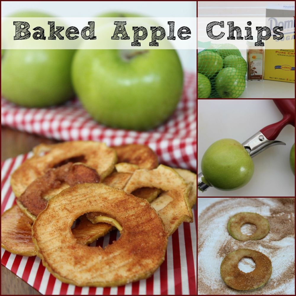 Baked Apple Chips collage