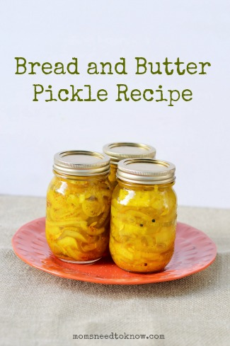 Bread and Butter Pickle Recipe1
