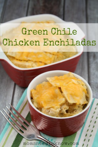 Green Chile Chicken Enchiladas2
