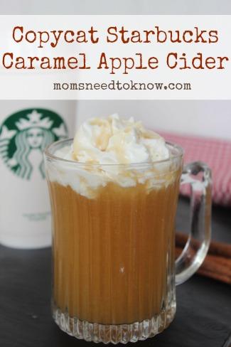 Copycat Starbucks Caramel Apple Cider