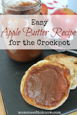 Easy Apple Butter Recipe for the Crockpot