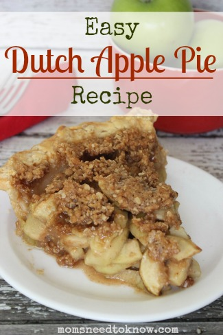 Easy Dutch Apple Pie Recipe