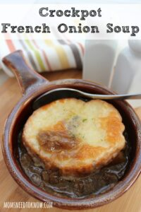 Easy Recipe for Crockpot French Onion Soup