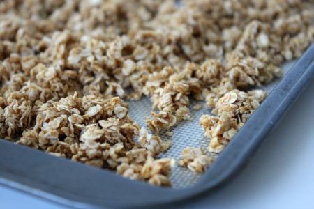 pumpkin granola process
