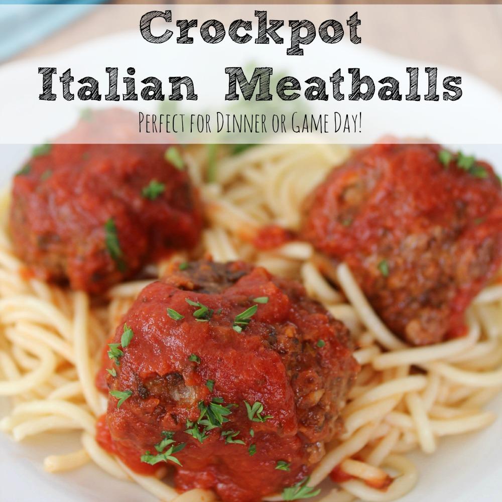 Crockpot Italian Meatballs Square