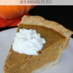 Easy Pumpkin Pie Recipe with Homemade Pie Crust