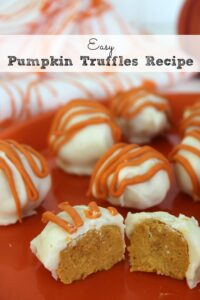 Easy Pumpkin Truffles Recipe
