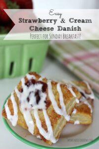 Easy Strawberry Cream Cheese Danish
