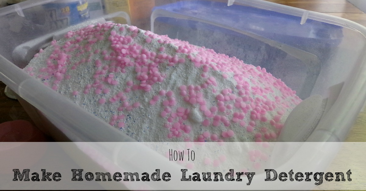 How To Make Your Own Homemade Laundry Detergent Moms