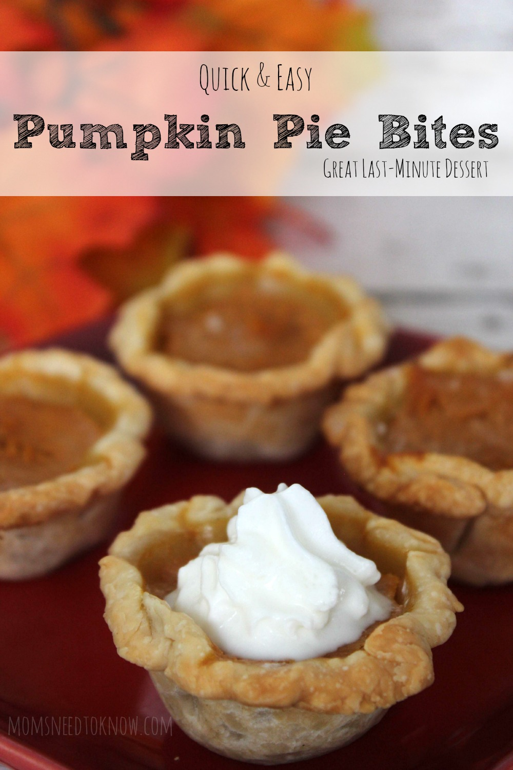 Quick and Easy Pumpkin Pie Bites