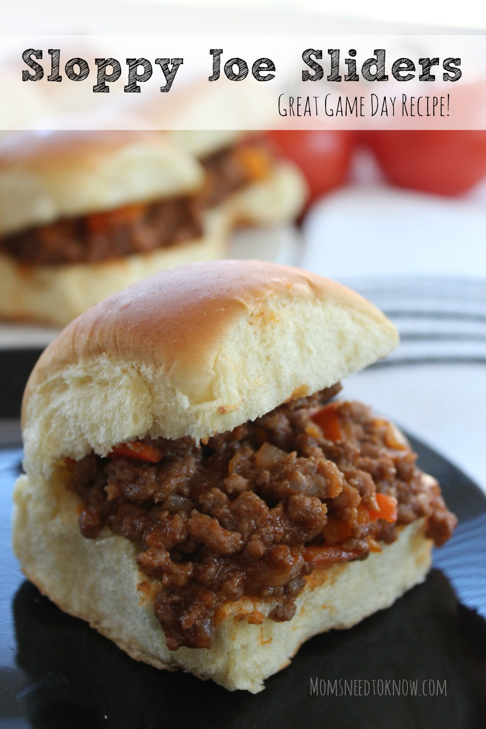 Sloppy Joe Recipe | Sloppy Joe Sliders! - Moms Need To Know ™