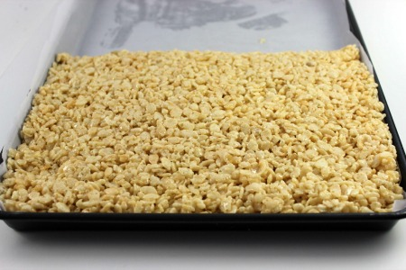 Turkey Rice Krispie Treats process