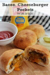 Bacon Cheeseburger Pockets | Game Day Recipe