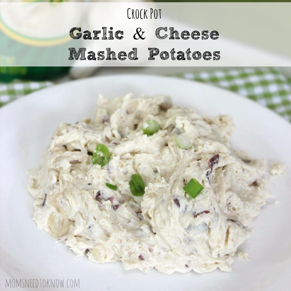 Crock Pot Garlic and Cheese Mashed Potatoes sq