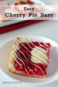 These cherry pie bars will look (and taste) great on the dessert table next to your lemon blueberry bars!