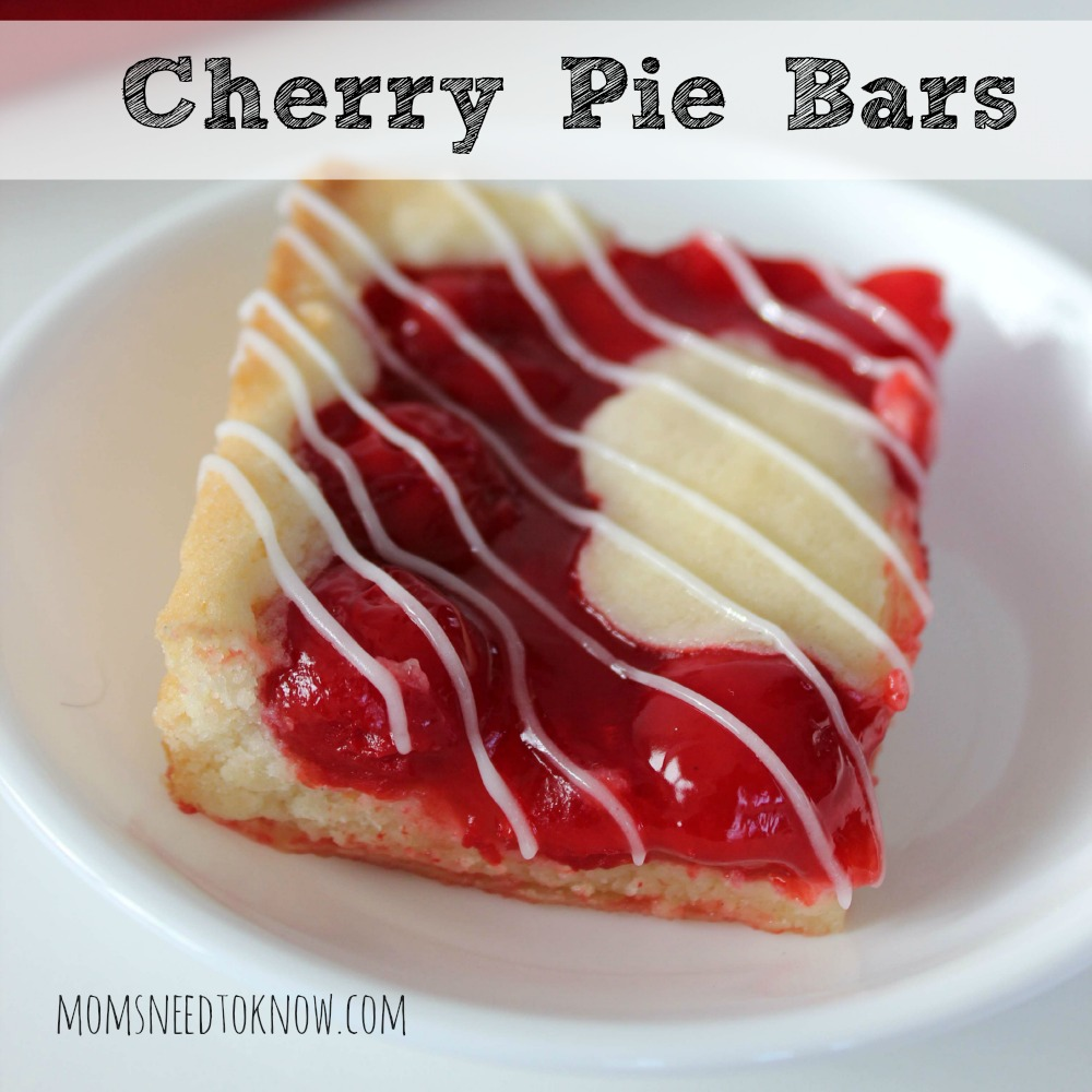 Easy Cherry Pie Bars sq
