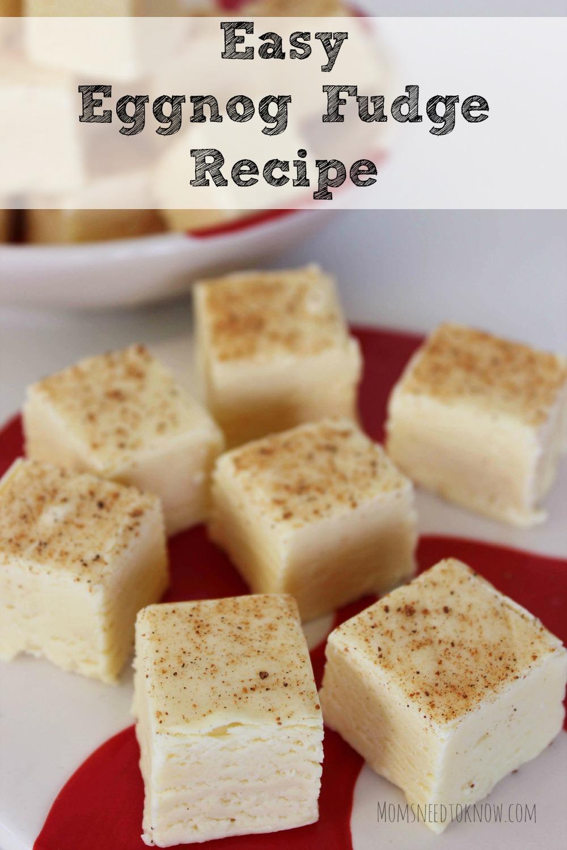 Easy Eggnog Fudge Recipe