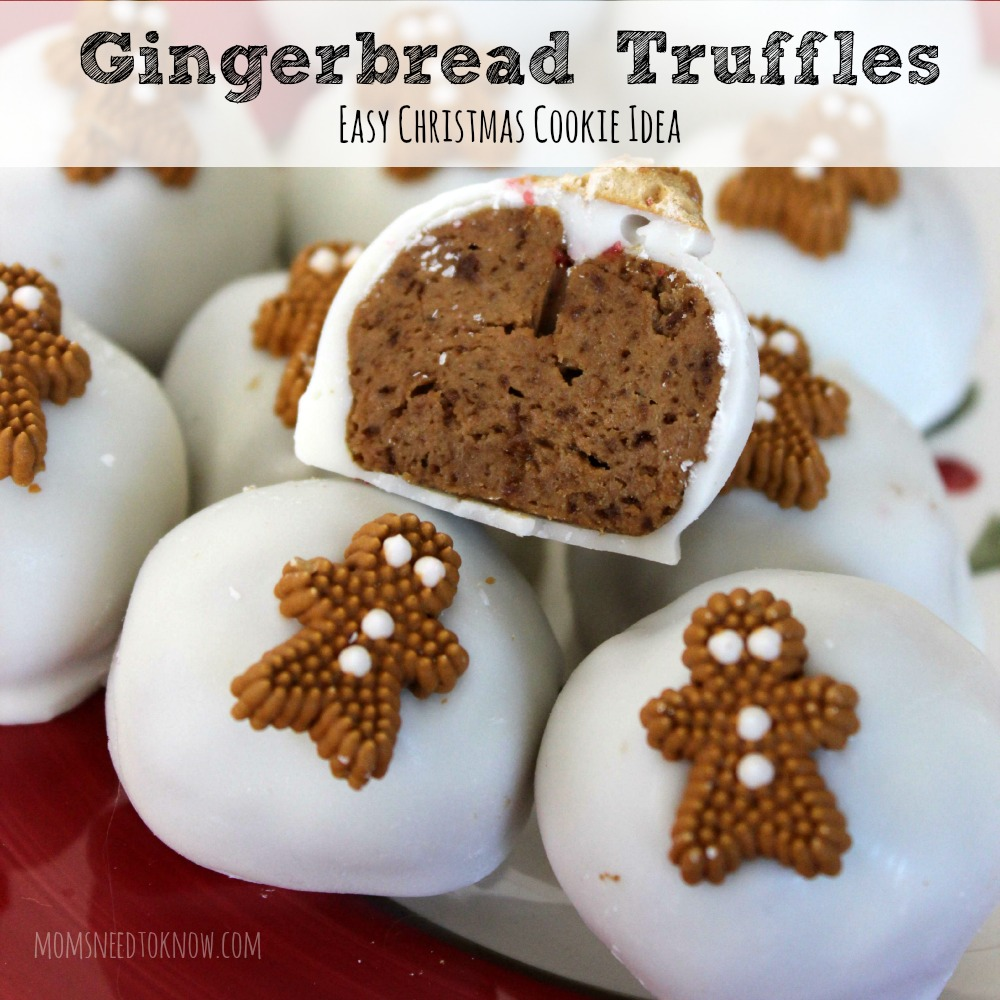 Gingerbread Truffles Easy Christmas Cookie Idea sq