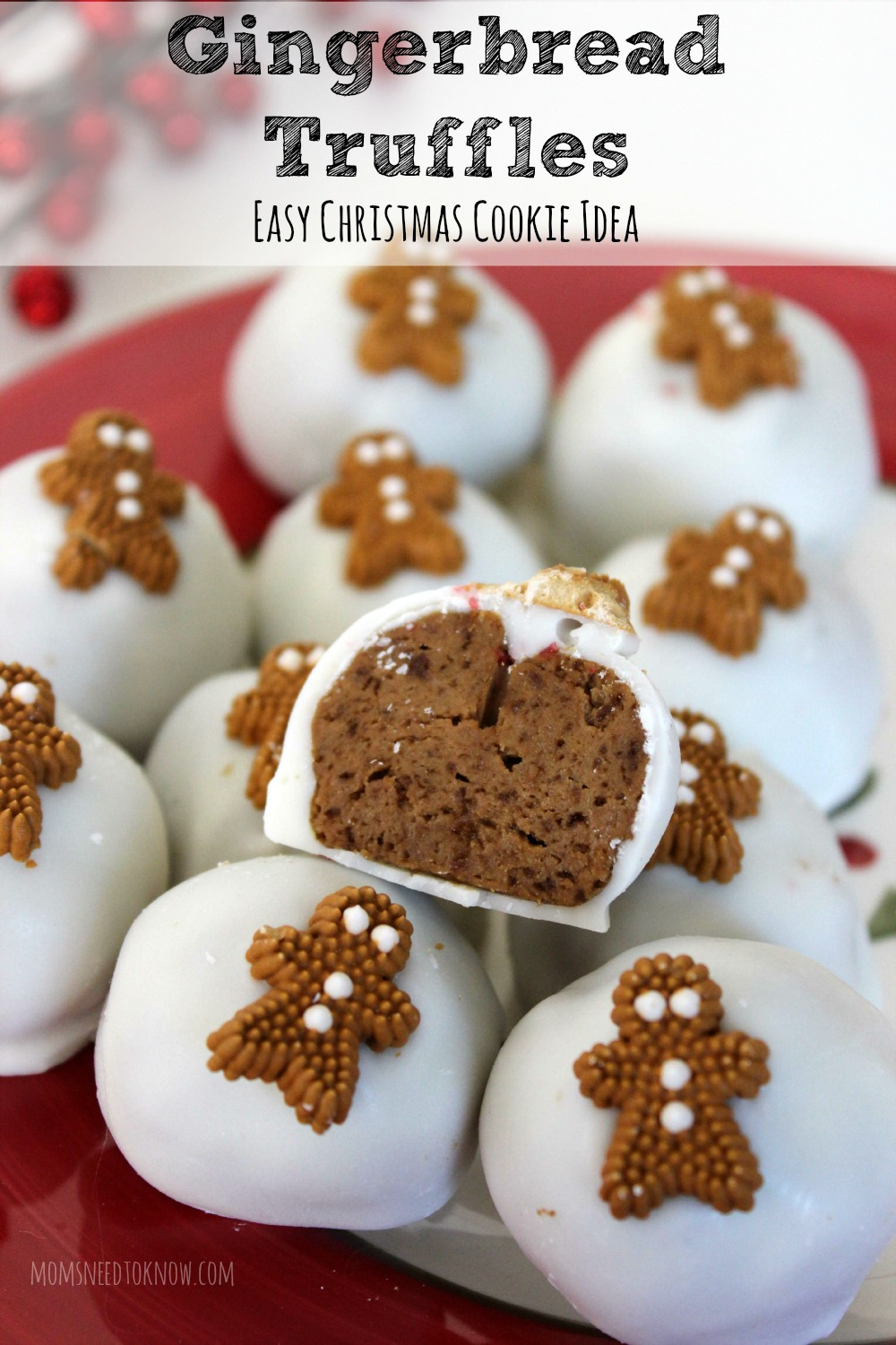 Gingerbread Truffles Easy Christmas Cookie Idea