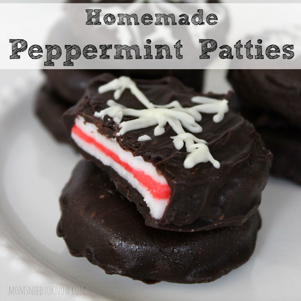 Homemade Peppermint Patties Square