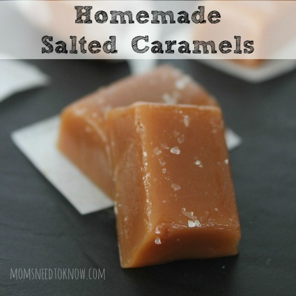 Homemade Salted Caramels Square Small