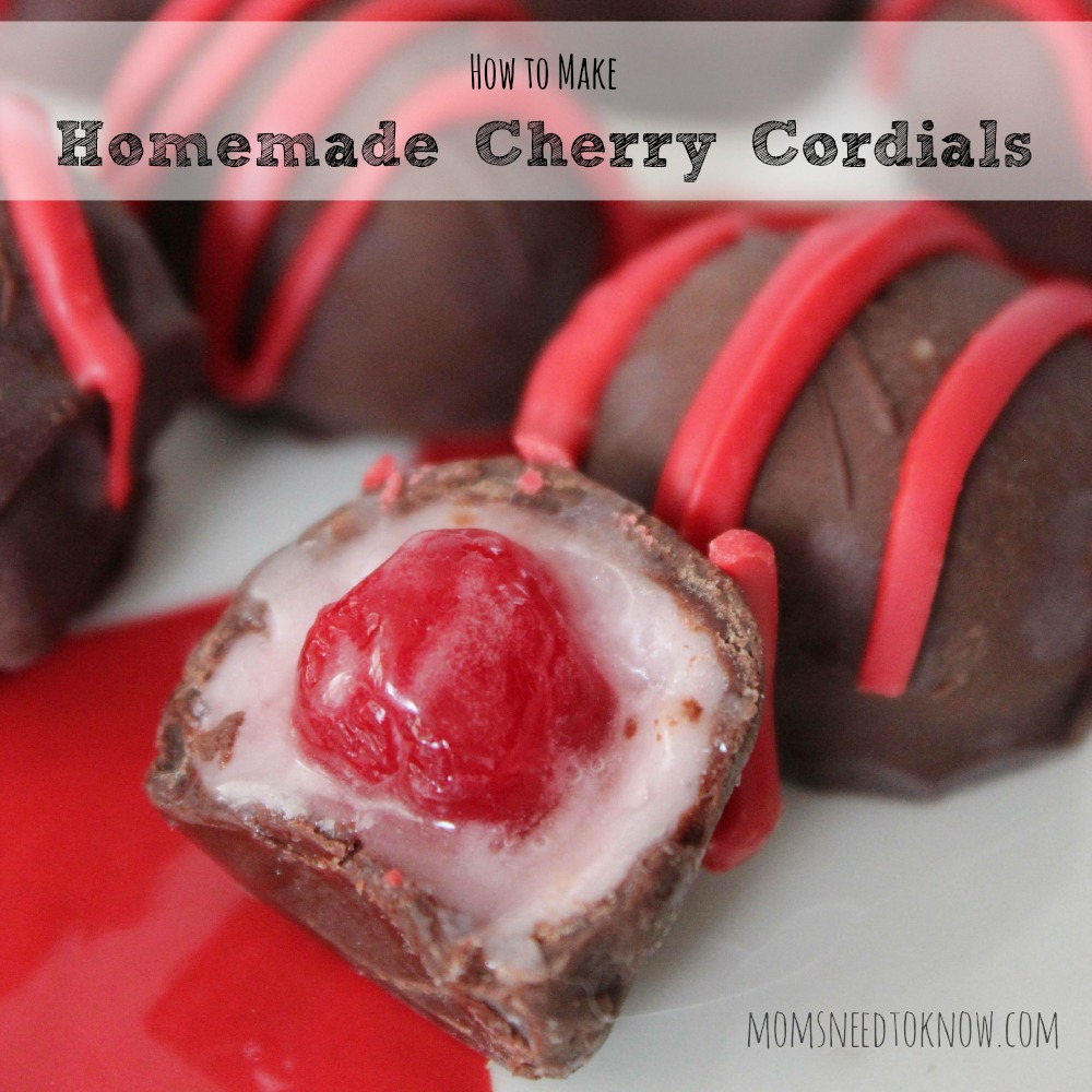 How To Make Homemade Cherry Cordials or Chocolate Covered Cherries sq