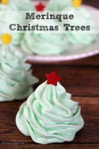 These meringue Christmas trees would look really cute on your cookie trays as well!