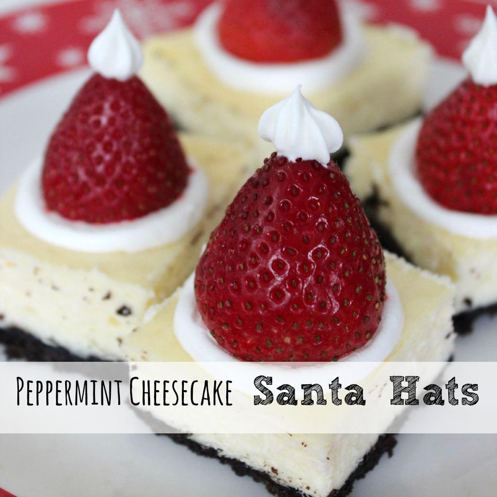 Peppermint Cheesecake Santa Hats sq