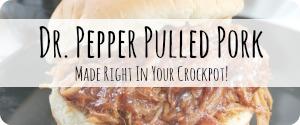 Slow Cooker BBQ Pork Recipes Crockpot Dr Pepper Pulled Pork
