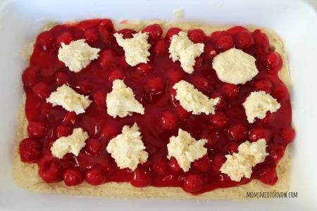 easy cherry pie bars process2