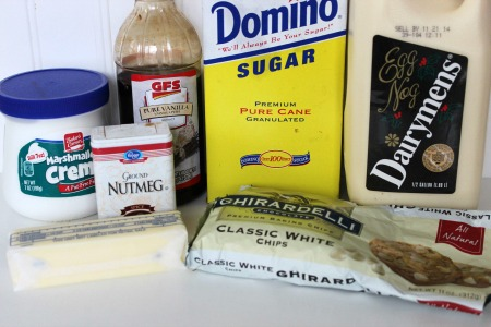 eggnog fudge recipe ingredients