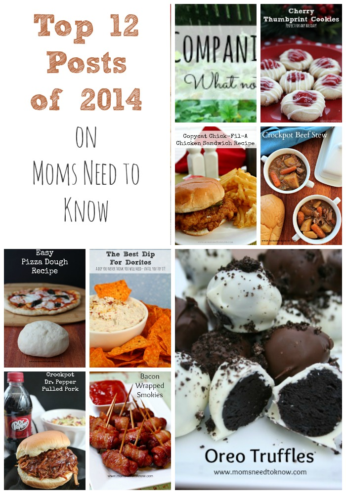 Top 12 Posts on Moms Need To Know for 2014