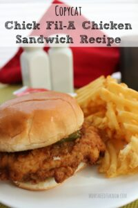 This Copycat Chick Fil'A Chicken Sandwich will go perfectly with these sweet potato fries!