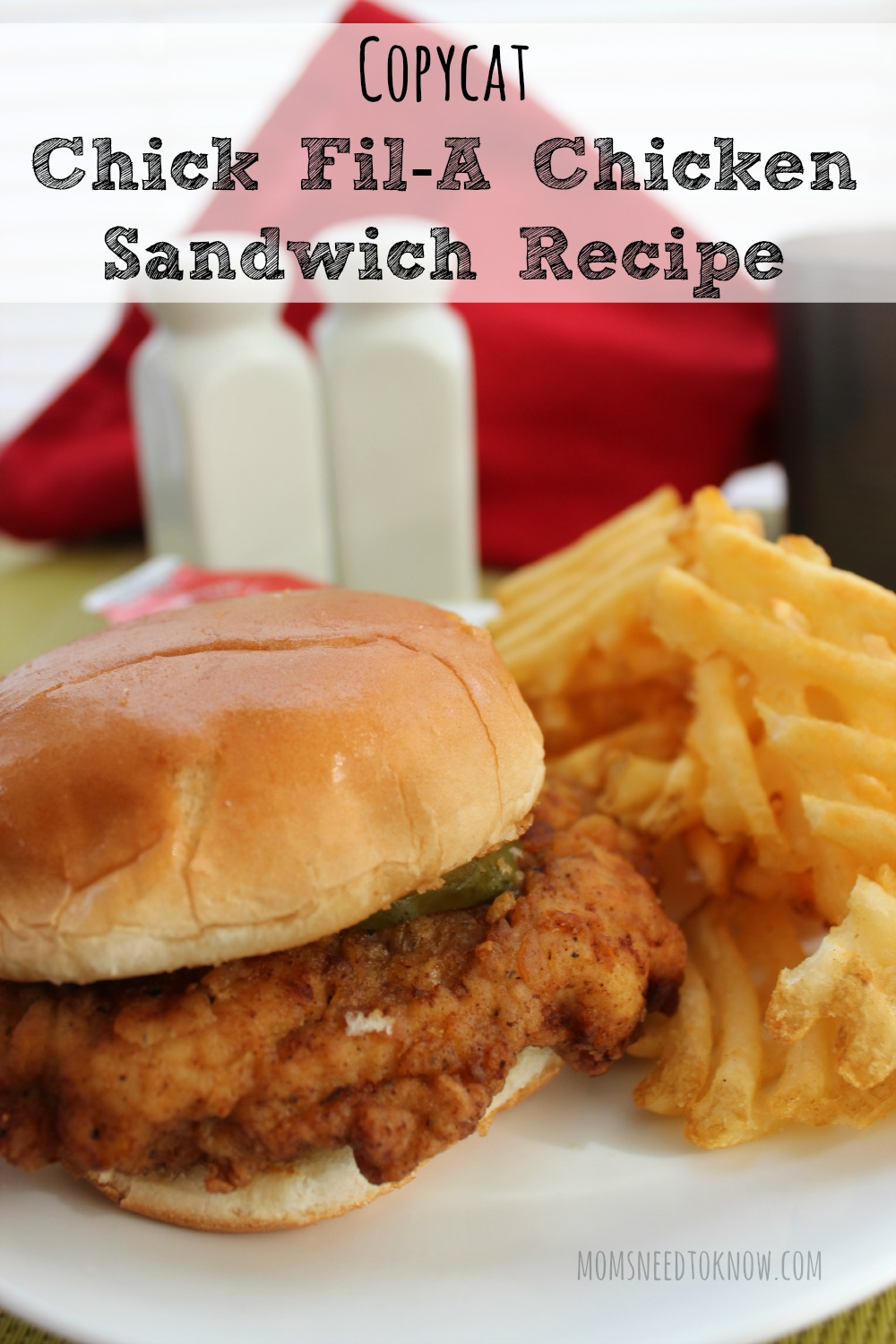 Get the delicious taste of Chick Fil'A any day of the week (even Sunday) with this copycat Chick Fil'A Chicken Sandwich recipe!