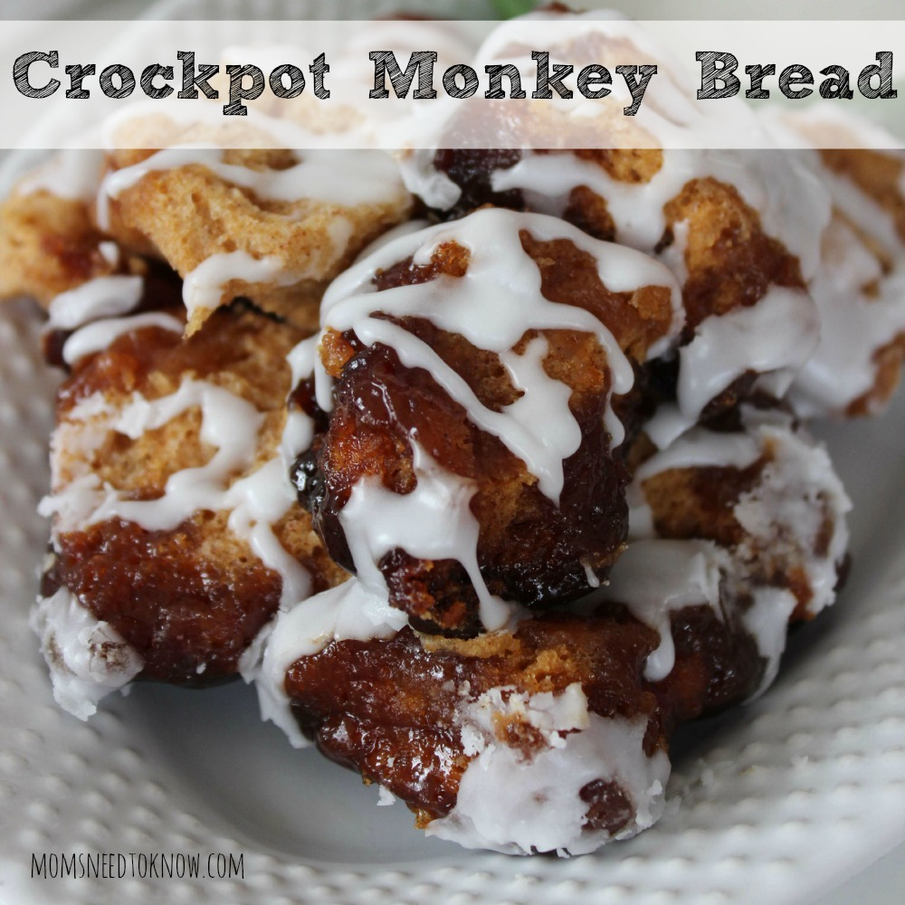 This Crockpot Cinnamon Monkey Bread smells amazing while it is cooking and is a favorite in our house. It takes just a few minutes to prepare!