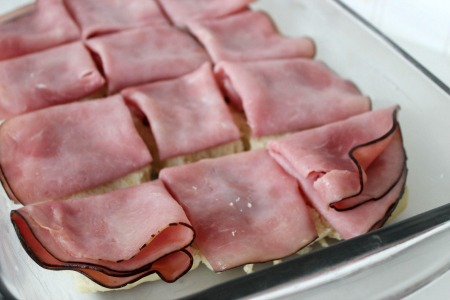 Hawaiian Ham and Cheese Sliders process1