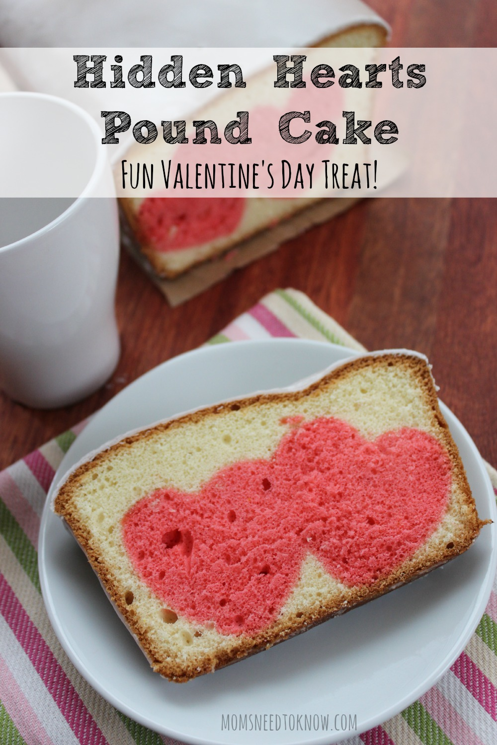 Hidden Hearts Pound Cake for Valentines Day