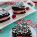 Brownie Hearts With Raspberry Buttercream Filling