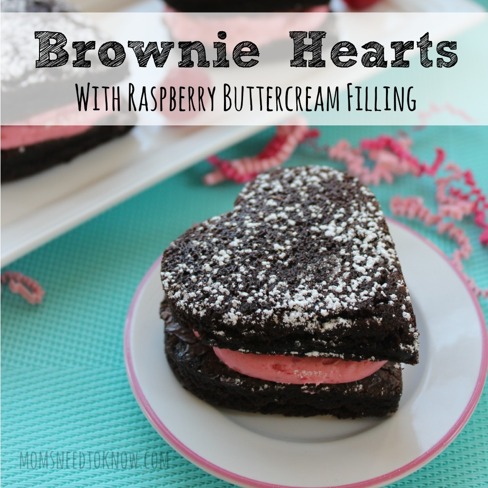 Brownie Hearts With Raspberry Buttercream Filling sq
