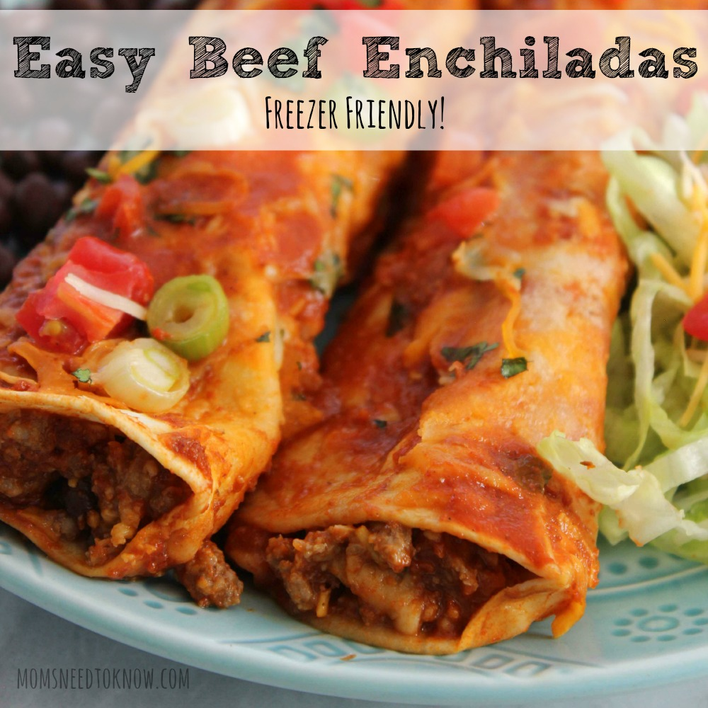 easy beef enchiladas freezer friendly meal by mindi these easy beef ...